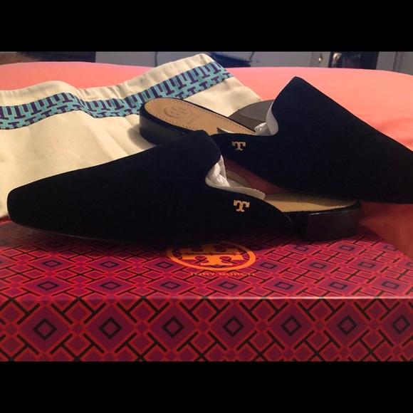 668ff155c9dc Tory Burch Black Carlotta Slide Brand New